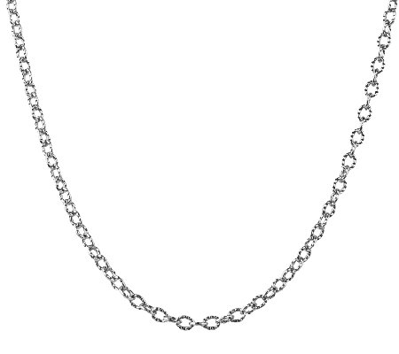 "American West Sterling 17"" Curb Link ChainNecklace"