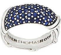 Peter Thomas Roth Sterling Silver Pave Sapphire Band Ring - J354685