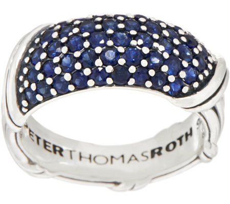 Peter Thomas Roth Sterling Silver Pave Sapphire Band Ring