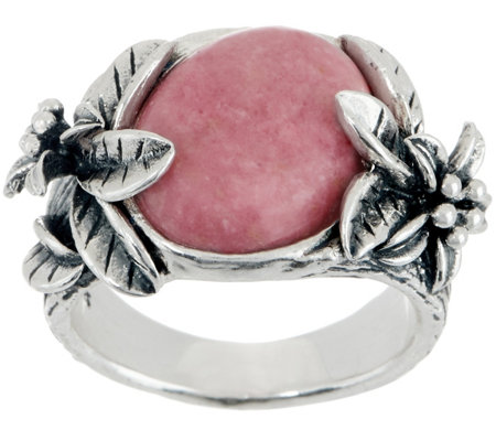 Or Paz Sterling Silver Gemstone Flower Band Ring