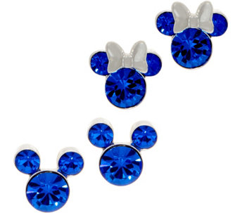 Mickey s 90th Birthday Simulated Birthstone Stud Earrings baeb28ee594c