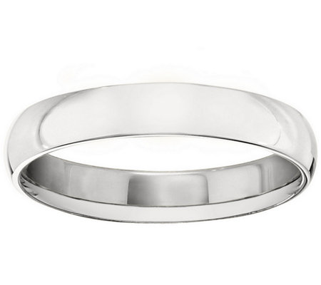 Men's 14K White Gold 4mm Half Round Wedding Band