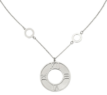 Sterling Roman Numeral Necklace, 4.9g by S ilver Style