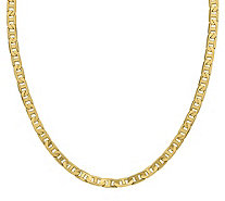 "Italian Gold 20"" Men's Concave Anchor Link Chain, 38.3g, 14K - J384385"