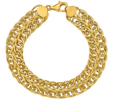 Italian Gold 14k Oval Multi Link Bracelet 9 6g