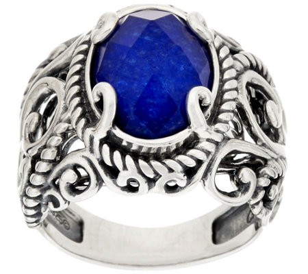 Carolyn Pollack Sterling Signature Gemstone Doublet Ring