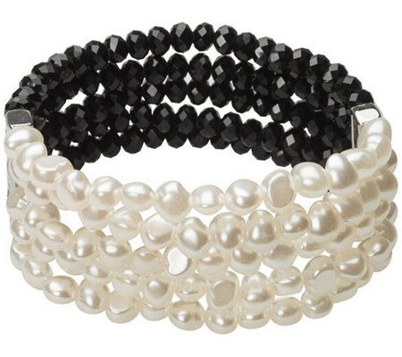 Linea By Louis Dell Olio Crystal Simulated Pearl Bracelet