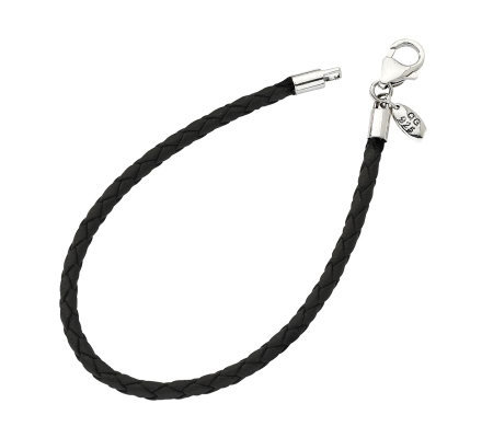 Prerogatives Braided Black Cord Bracelet With Lobster Clasp