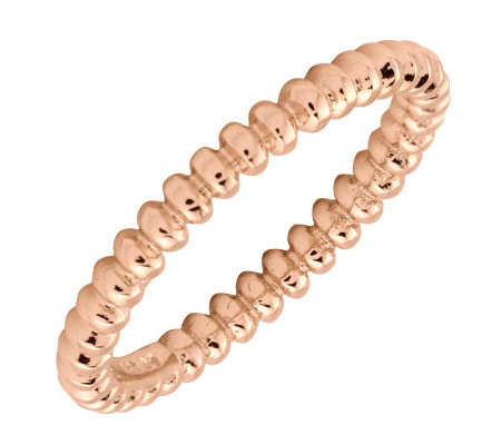 Simply Stacks Sterling 18K Rose Gold-Plated 2.25mm Bubble Ring
