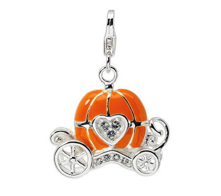 Amore La Vita Sterling Dimensional Pumpkin Carriage Charm