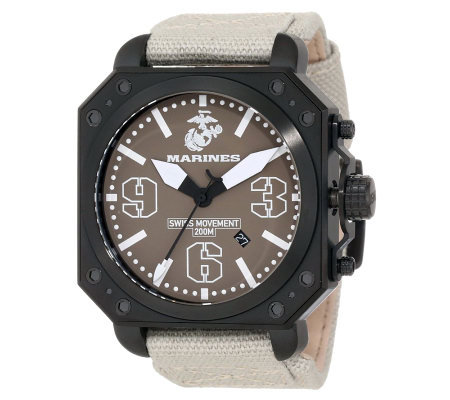Wrist Armor Men's Aircraft Watch, Beige Strap and Tan Dial