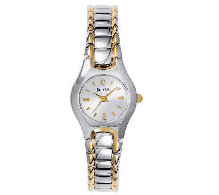 Bulova Ladies Two-Tone Stainless Steel BraceletWatch