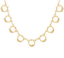 Judith Ripka 14K Gold Multi- Circle 1/5 cttw Diamond Necklace - J347886