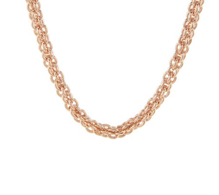 """As Is"" Bronze 20"" Caged Link Magnetic Clasp Necklace by Bronzo Italia"