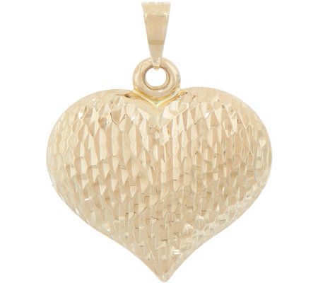 Italian gold reversible heart pendant 14k gold 13g page 1 qvc italian gold reversible heart pendant 14k gold 13g aloadofball Image collections