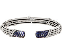 Peter Thomas Roth Stering Silver Pave Sapphire Cuff, 22.4g - J354686