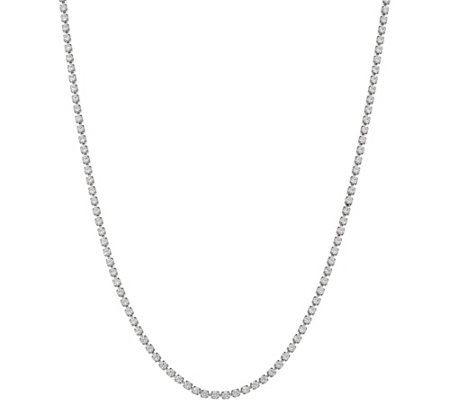 "Lisa Freede for Diamonique 24"" Tennis Necklace, Sterling Silver"