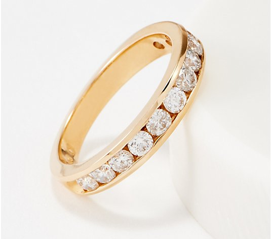 Affinity 14K Gold Channel Set Diamond Band Ring, 1.00 cttw
