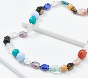 "Simon Sebbag Sterling Silver Multi-Gemstone 39"" Necklace - J361686"
