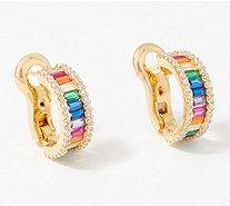 MD Jewellery 14K Gold Plated Simulated Diamond Studded Designer Stud Earrings