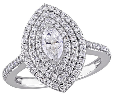 Marquise Diamond Ring, 14K, 9/10 cttw, by Affinity