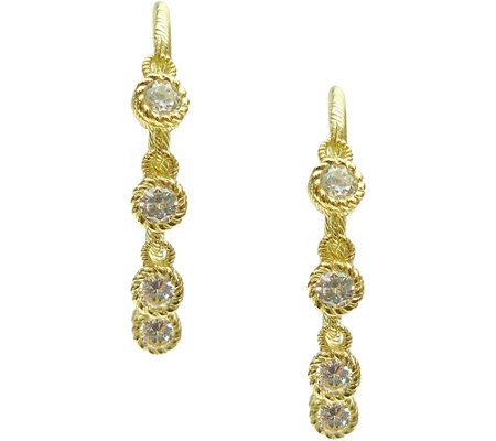 Judith Ripka Sterling/14K Clad 1.15 cttw Diamonique Earrings