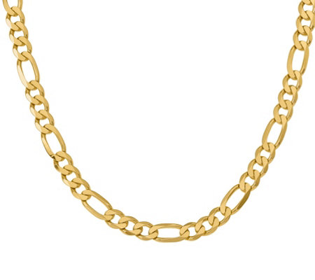 "14K Gold 24"" Figaro Necklace, 78.3g"