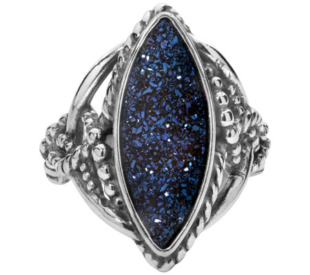Carolyn Pollack Sterling Marquise Drusy Ring