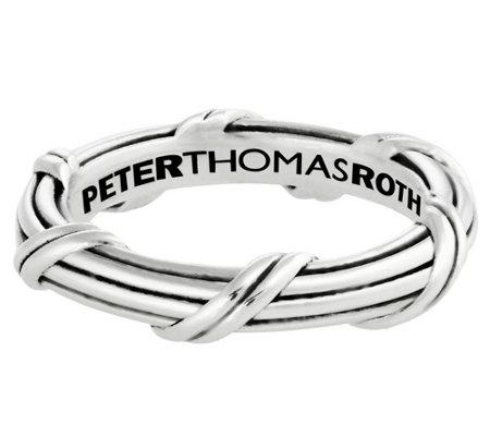 Peter Thomas Roth Sterling Ribbon Reed Signat Ure Band Ring