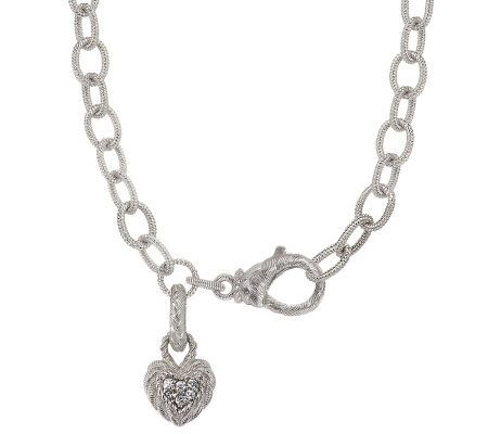 Judith ripka sterling 20 country link necklace with heart charm judith ripka sterling 20 country link necklace with heart charm aloadofball Gallery