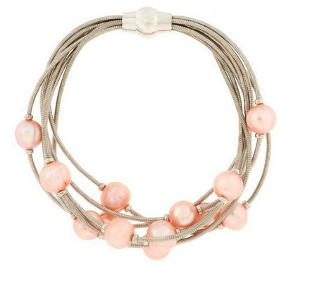 """As Is"" Honora Cultured Pearl 8"" Scattered Pearl Bracelet"