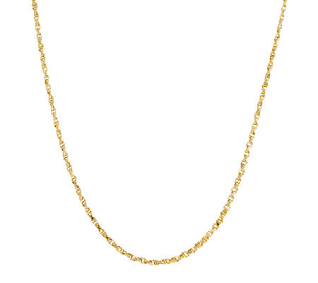 "14K Gold 16"" Diamond Cut Woven Rope Chain Necklace, 2.3g"