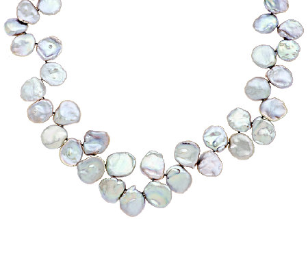 Honora Keshi Cultured Pearl Sterling Graduated Necklace