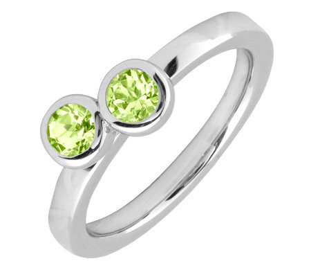 Simply Stacks Sterling & Peridot Double CircleRing