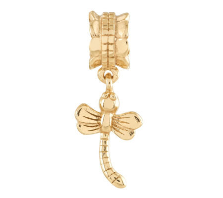 Prerogatives 14K Gold-Plated Sterling DragonflyBead