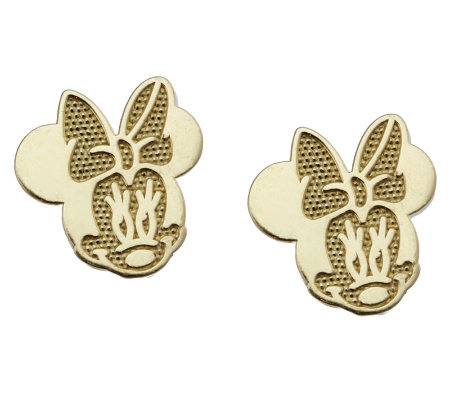Disney Minnie Mouse Stud Earrings 14k Gold