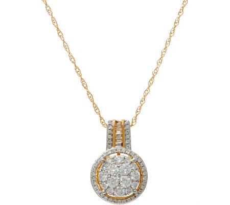 Cluster diamond round pendant on chain 14k 34 cttw by affinity cluster diamond round pendant on chain 14k 34 cttw by affinity aloadofball Choice Image