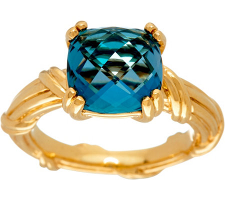Peter Thomas Roth 18K Gold & London Blue Topaz Gemstone Ring