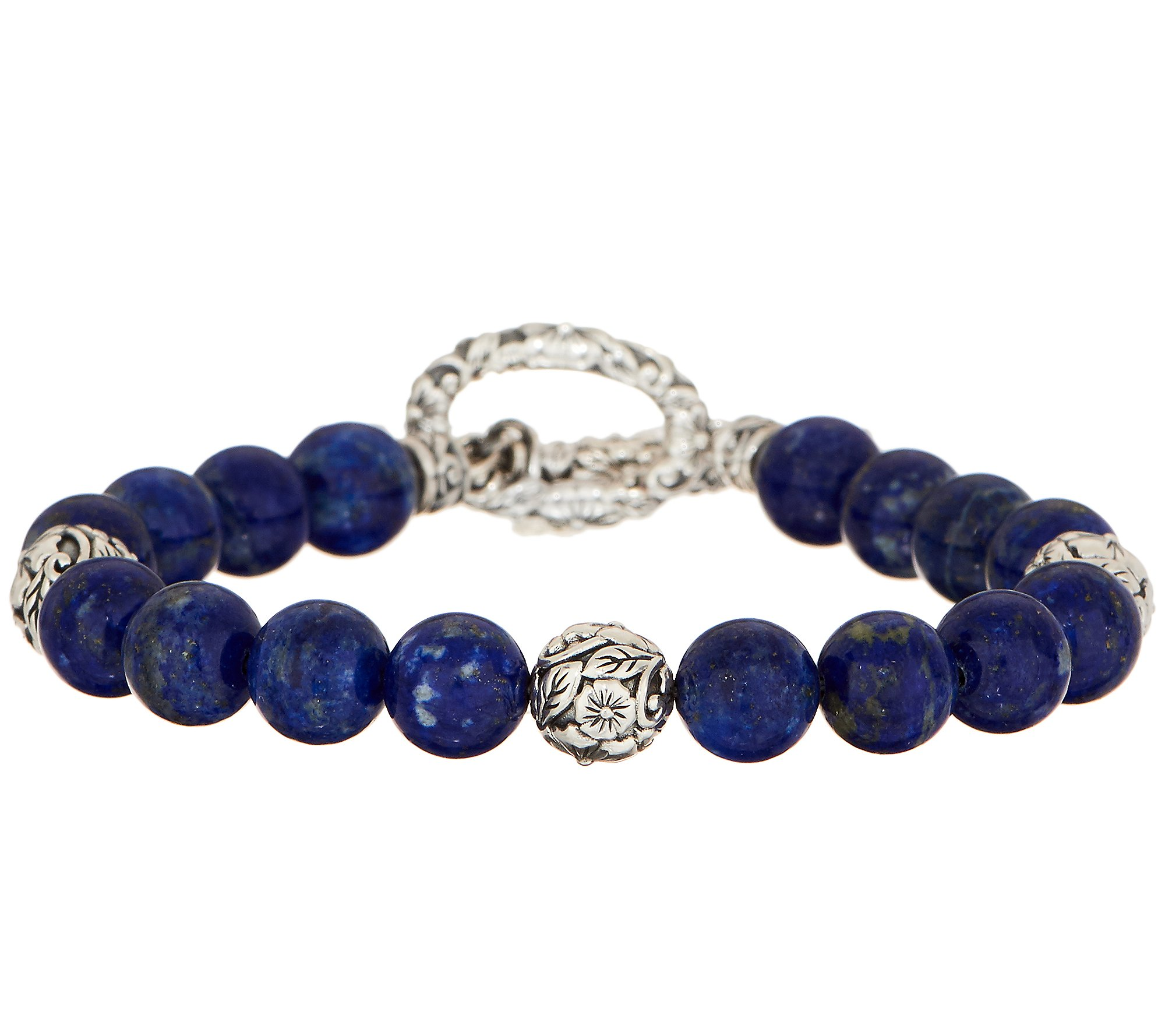 Sterling Silver Cuff Bracelet Polka Dot Turquoise Lapis Lazuli
