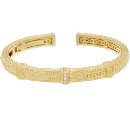 Judith Ripka 14K Clad Diamonique Beaded Cuff