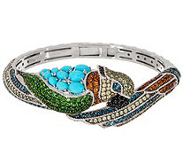 Judith Ripka Peggy Parrot Sterling Silver Multi-Gemstone Cuff - J356687