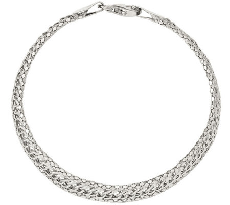 "Sterling Curb Link 7-1/2"" Bracelet, 5.1g by Silver Style"