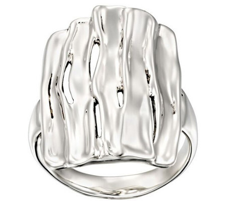 Hagit Sterling Silver Polished Freeform Ring
