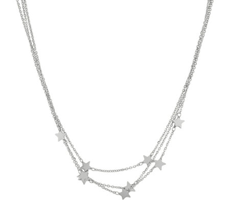 Steel by Design 3-Strand Star Station Necklace