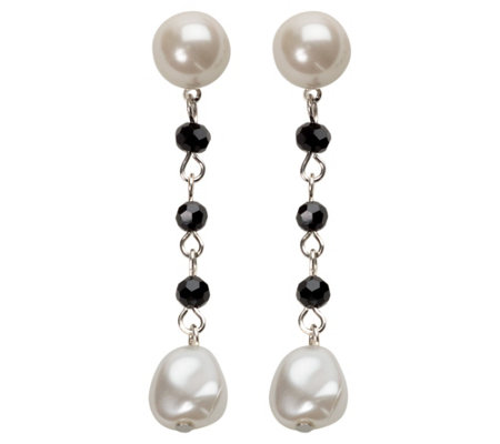 Linea By Louis Dell Olio Crystal Simulated Pearl Earrings