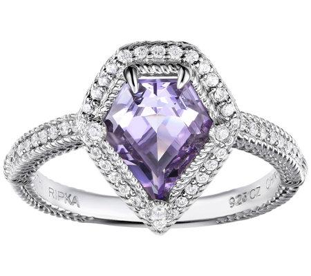 Judith Ripka Sterling Diamonique Gemstone Ring