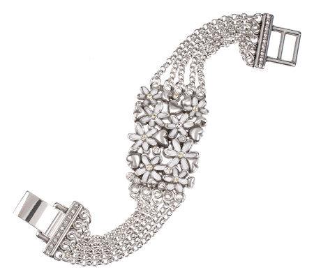 Brighton Love Daisy Silvertone Bracelet