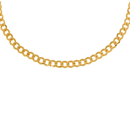 "18"" Polished Curb Link Necklace, 14K Gold11.90g"