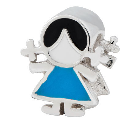 Prerogatives Sterling Blue Dress Girl Bead