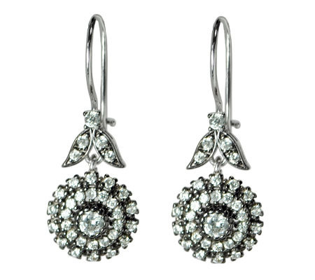 Diamonique 2 80 Ct Tw Sterling Floral Earrings